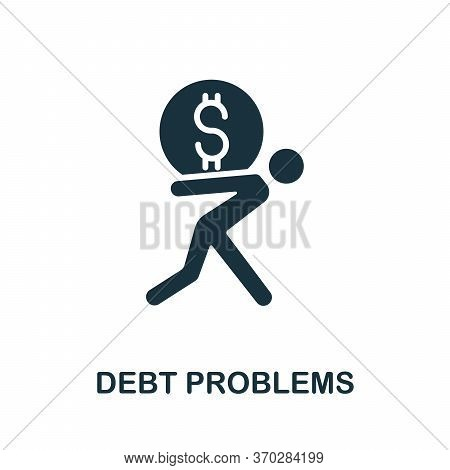 Debt Problems Icon. Simple Element From Business Organization Collection. Creative Debt Problems Ico