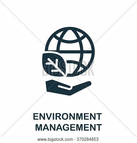 Environment Management Icon. Simple Element From Company Management Collection. Creative Environment