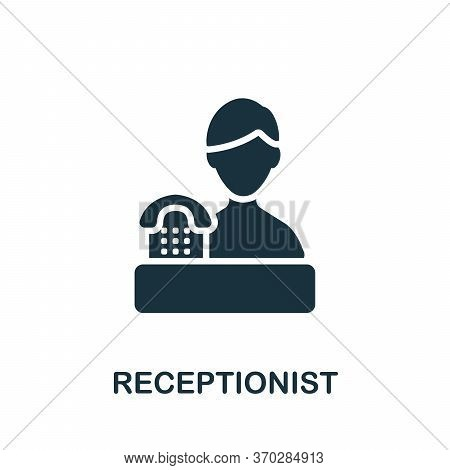 Receptionist Icon. Simple Element From Company Management Collection. Creative Receptionist Icon For