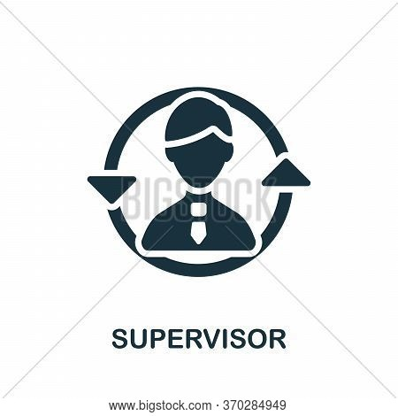 Supervisor Icon. Simple Element From Company Management Collection. Creative Supervisor Icon For Web