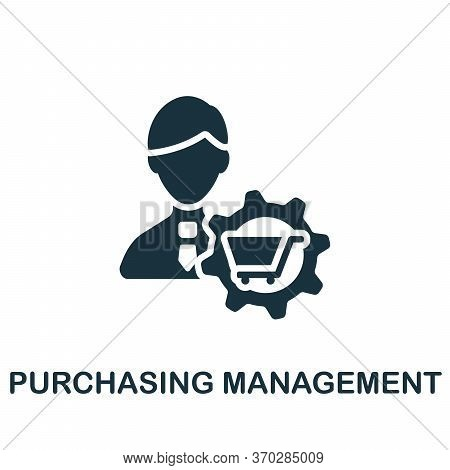 Purchasing Management Icon. Simple Element From Company Management Collection. Creative Purchasing M