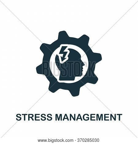 Stress Management Icon. Simple Element From Company Management Collection. Creative Stress Managemen