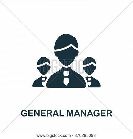 General Manager Icon. Simple Element From Company Management Collection. Creative General Manager Ic