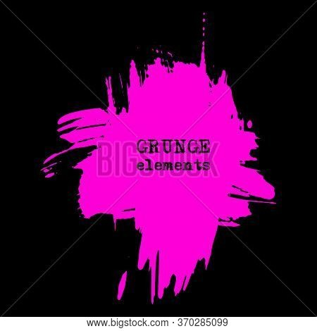 Vector Splats Splashes And Blobs Of Pink Ink Paint In Different Shapes Drips