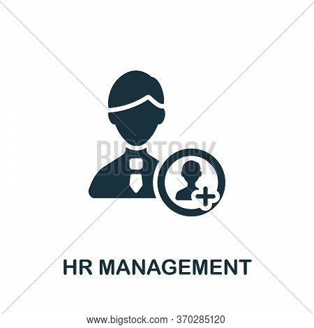 Hr Management Icon. Simple Element From Company Management Collection. Creative Hr Management Icon F