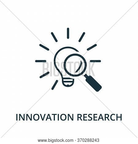 Innovation Research Icon From Reputation Management Collection. Simple Line Element Innovation Resea