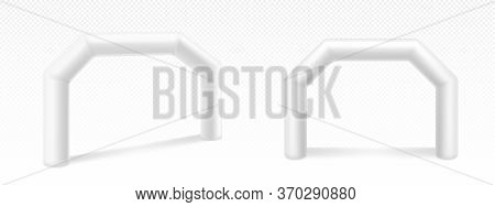 Inflatable Arches For Advertising, Races, Marathon And Sports Events. Blank Archways Or Gate, Finish