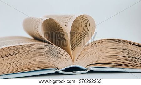 Book With Love Symbol Isolated On White Background, Love Books, Love To Read, Love Stories, Heart Sh