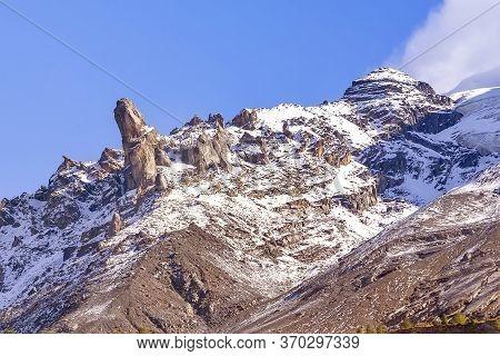 Switzerland, Panoramic View Of Swiss Alps Snow Mountain Peaks, Jungfraujoch, Ski Resort, Bernese Obe