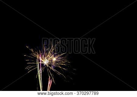 Fireworks Display Night In London, United Kingdom