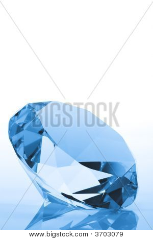 Blue Diamond With Copy Space