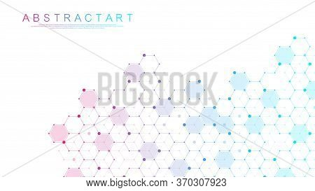 Abstract Medical Background Dna Research, Molecule, Genetics, Genome, Dna Chain. Genetic Analysis Ar