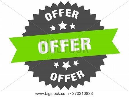 Offer Sign. Offer Circular Band Label. Round Offer Sticker