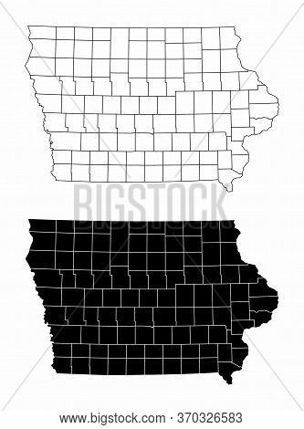 The Black And White Iowa State County Maps