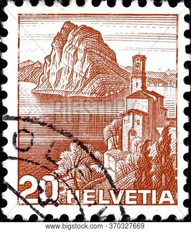 02.11.2020 Divnoe Stavropol Territory Russia Postage Stamp Switzerland 1938 Landscapes Castagnola Ch