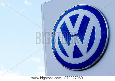 Bordeaux , Aquitaine / France - 09 30 2019 : Sign Store German Carmaker Volkswagen Dealership The Vw