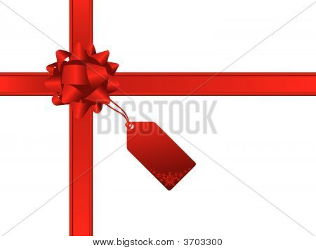 Christmas bow and gift card. More christmas images in my portfolio. poster