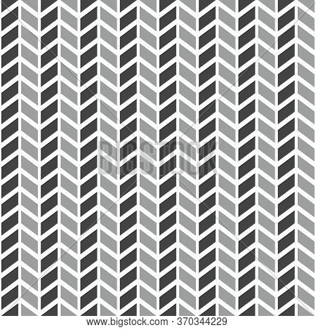 Tile Vector Pattern With Grey Arrows On White Background