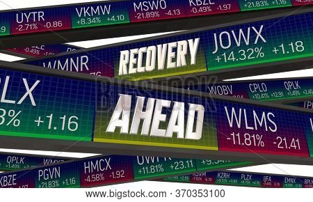 Recovery Ahead Stock Market Rebound New Bull Market 3d Illustration