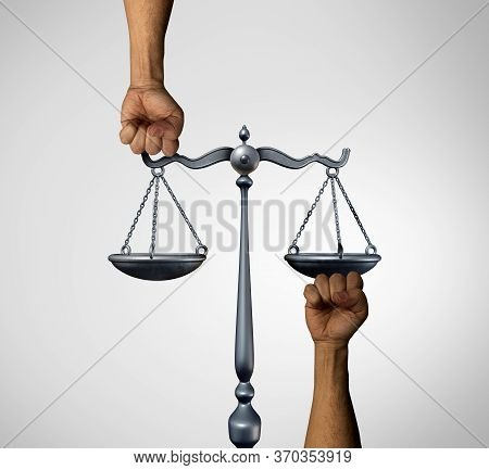 Equal Social Justice And Equality Law In Society As Diverse People Holding The Balance In A Legal Sc