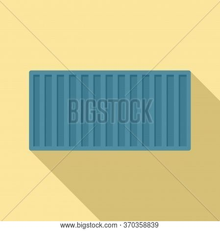 Cargo Container Icon. Flat Illustration Of Cargo Container Vector Icon For Web Design