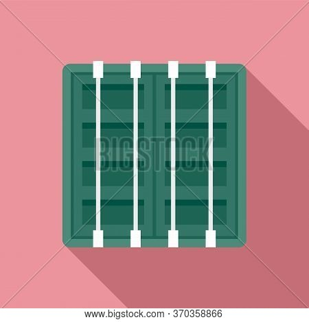 Ship Cargo Container Icon. Flat Illustration Of Ship Cargo Container Vector Icon For Web Design