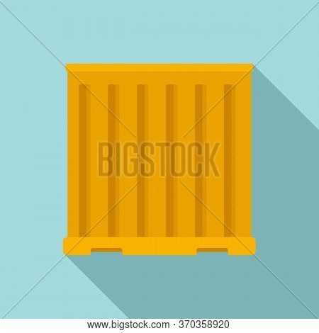 Storage Cargo Container Icon. Flat Illustration Of Storage Cargo Container Vector Icon For Web Desig