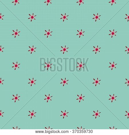 Modern Abstract Red Dwarf Vector Seamless Pattern Background. Naive Style Hand Drawn Mix Of Celestia