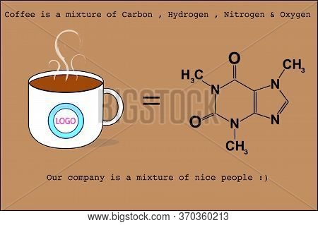Coffee Cup With Chemical Formula Represent Strong Relationship Between Boss And Subordinate In The O