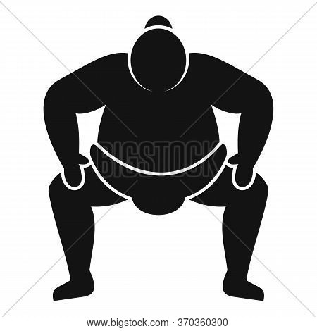 Japanese Sumo Icon. Simple Illustration Of Japanese Sumo Vector Icon For Web Design Isolated On Whit
