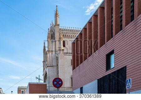 Madrid, Spain - June 7, 2020: Exterior View Of Jeronimos Extension Of Prado Museum