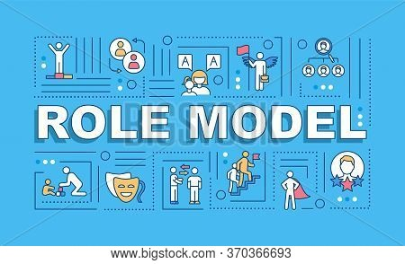 Role Model Word Concepts Banner. Professional Expertise. Parenthood Experience. Infographics With Li