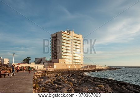 Colonia De Sant Jordi, Balearic Islands/spain; June 2020: Pedestrians On The Colonia De Sant Jordi P