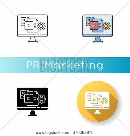 Content Manager Icon. Pr Strategy. Blogging To Promote Brand. Webpage Optimization And Update. Campa