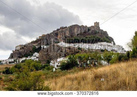 Zahara De La Sierra, Beautiful Town Located In The Sierra De Grazalema, Cadiz , Andalusia, Spain.