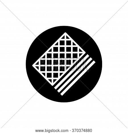 Wafer Biscuit Icon Flat Vector Template Design Trendy