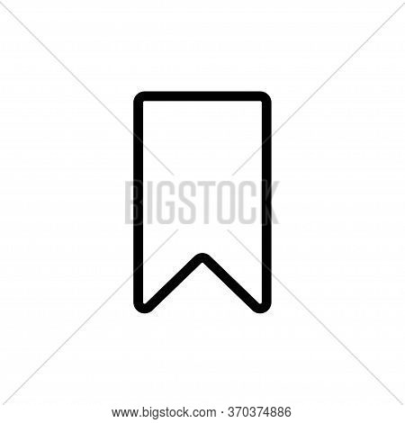Bookmark Icon Flat Vector Template Design Trendy