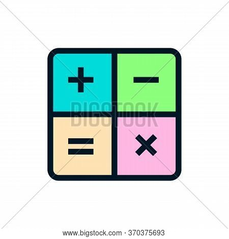 Math Icon Isolated On White Background From Math Symbols Collection. Math Icon Trendy And Modern Mat