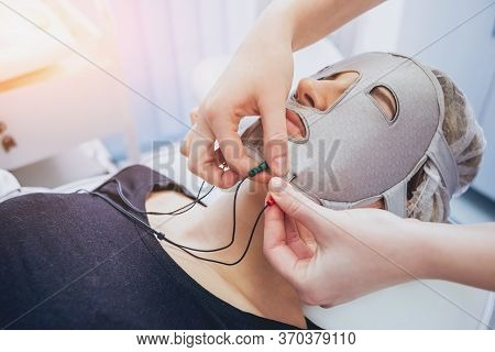 Cosmetic Medicine. Mesotherapy Medical Devices. Light Background.