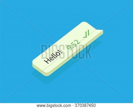 Sms Message Bubble With Dialog Word. Vector Illustration. Message Interface.. Flat Vector Message Bu