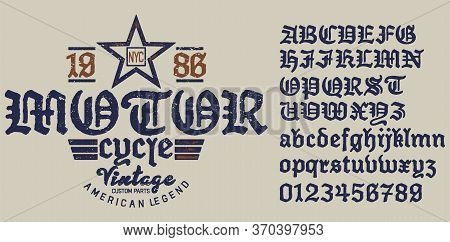Emblem Motorcycle Collection .decorative Serif Font Inspired By The Art Deco Era.the Font Is Perfect