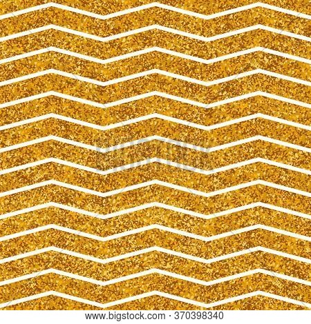 Tile Vector Pattern With White Stripes And Gold Background For Seamless Decoration Wallpaper