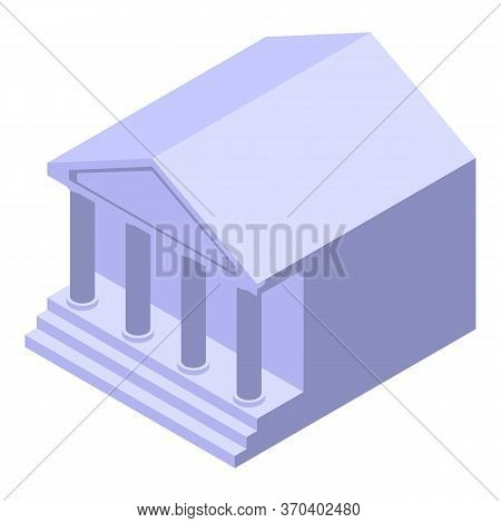 Court Building Icon. Isometric Of Court Building Vector Icon For Web Design Isolated On White Backgr