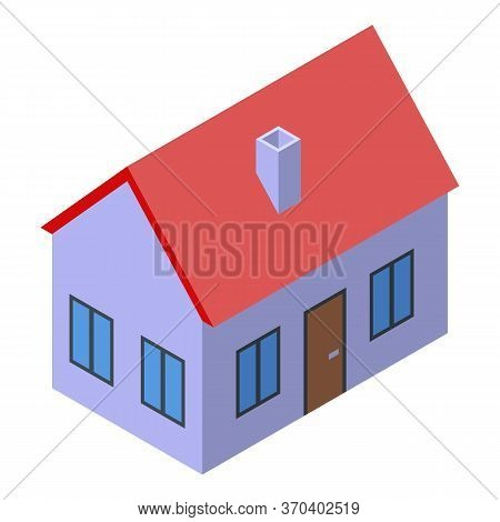 Notary House Icon. Isometric Of Notary House Vector Icon For Web Design Isolated On White Background
