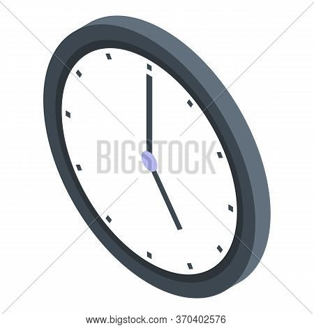 Notary Wall Clock Icon. Isometric Of Notary Wall Clock Vector Icon For Web Design Isolated On White