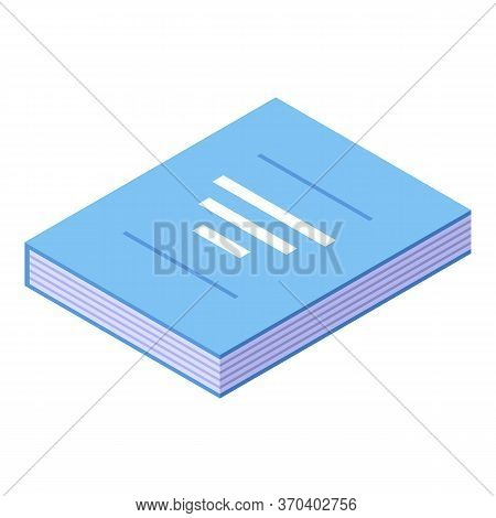 Notary Law Book Icon. Isometric Of Notary Law Book Vector Icon For Web Design Isolated On White Back