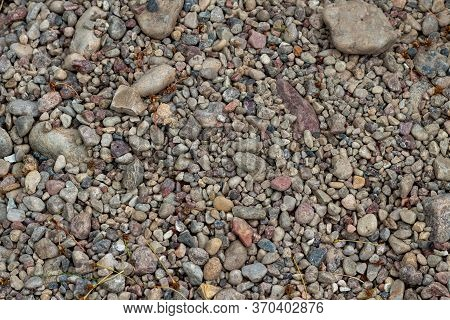 Background Of Colored Pebbles. Texture Of Colored Pebbles