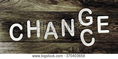 Change To Chance Words Altering Letter G To C. Business Crisis Solution Positive Mindset Challenging