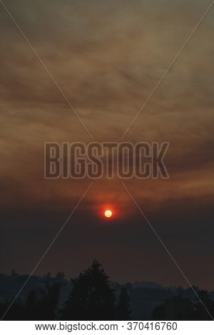 An Ominous Smoke-filled Sunset Taken During The Fires.