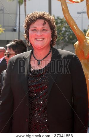 LOS ANGELES - SEP 15:  Dot Marie Jones arrives at the  Primetime Creative Emmys 2012 at Nokia Theater on September 15, 2012 in Los Angeles, CA